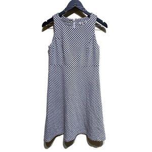 Loft Black & White Pattern Sleeveless Dress
